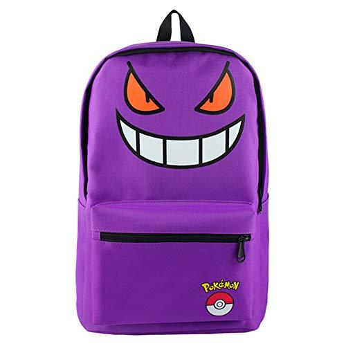 ucksack Kinderrucksäcke Unisex Schultasche Kinder Schulrucksäcke Laptop Tasche Lila Halloween-Emoticon Backpack Schulranzen ()