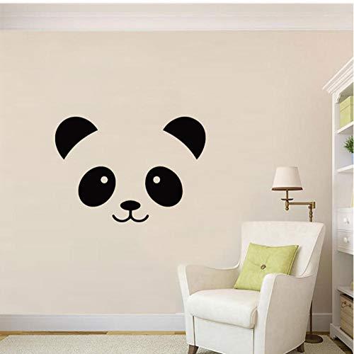r Schwarz Panda Gesicht Abnehmbare Art Diy Wandaufkleber Dekoration Wohnzimmer Schlafzimmer Wandtattoo (30X43 Cm) ()