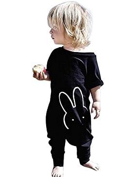 Onesie Kurzarm Baby IHRKleid® Baby Niedlich Cartoon Kaninchen Overall Bodysuit Strampler