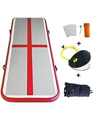 Tapis Gymnastique Gonflable Professionnel en PVC Pistes d'Acrobatie Air Floor Utilisation à Domicile/ Plage/ Parc et Eau/ pour Pom-pom Girl/ Gymnaste/ Entraînement Sportif