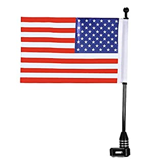 Wooya Universal Motorcycle Bike American Usa Flag Flag Pole Luggage Mount for Harley
