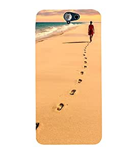 Vizagbeats Foot Steps Back Case Cover for HTC One A9