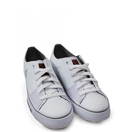 POLO RALPH LAUREN CANTOR white scarpe uomo sneakers tessuto