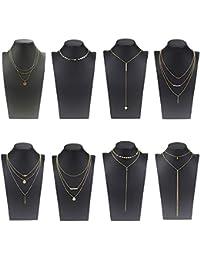 fd5953a1562a Coolcoco Moda de Metal de oro Choker Collar Conjunto con Colgante Para las  Mujeres y las