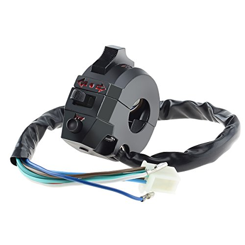 """KAWELL motocicleta interruptor intermitente/Cuerno/cabeza luz 7/8""""manillar Interruptor para Moto electrombiles ATV Scooters motonieves"""