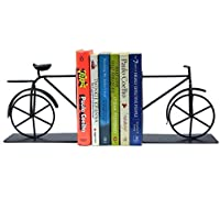 Whats Your Kick Decorative Metal Antique Cycle Book end / Non Skid Material bookend / Books Stopper for Home (2 Blocks…