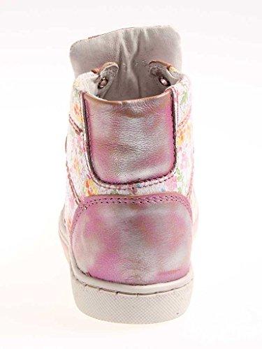 Nice Feet hohe Sneaker Knöchelschuhe aus Leder Damenschuhe bunt 713 Altrosa