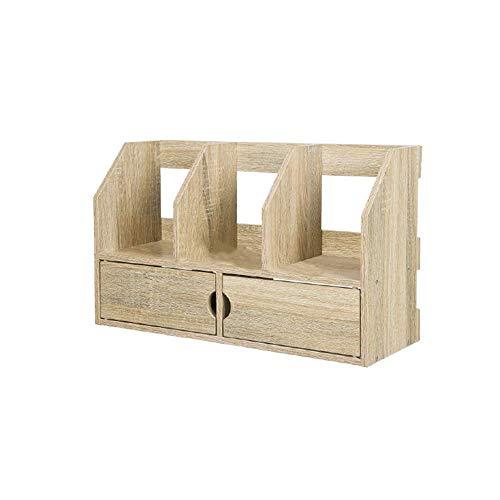 JHUEN Multifunktions Bücherregal Bücherregal Holz Wohnzimmer Schlafzimmer Kreativ Schreibtisch Mit Schublade Bücherregal 60x21,2x36 cm A ++ (Farbe: A) -
