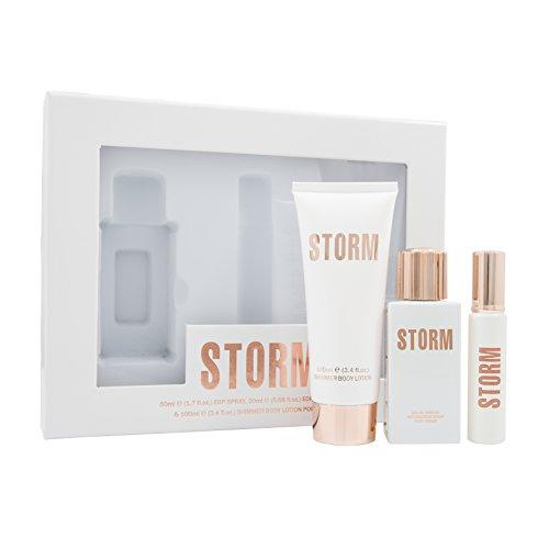 STORM Lux Pour Femme Confezione Regalo 50ml EDP Spray + 100ml Lozione Corpo + 20ml Spray da Borsetta