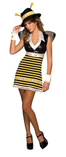 Kostüm Flügel Bee - :Rubie's 886166 - Killa Bee Bienen Kostüm Teenager, XS/S Kleid Flügel Hut Manschetten