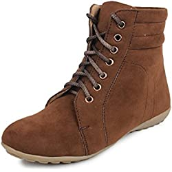 Beonza Women's Brown Suede Casual Boots Shoes-41-BZRSML004-1008-BROWN_11