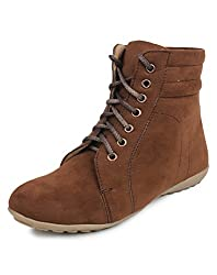 Beonza Women's Suede Casual Boots Shoes