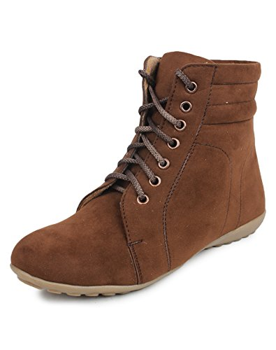 Beonza Women's Brown Suede Casual Boots Shoes-39-BZRSML004-1008-BROWN_9