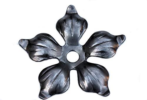 - rosetta ornamentale, in ferro battuto e acciaio, #956