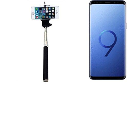 K-s-trade® per samsung galaxy s9 duos bastone selfie selfiestick asta autoritratto telescopica fotografico monopiede selfie stick per samsung galaxy s9 duos nero