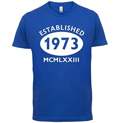 Gegründet 1973 Römische Ziffern - 44 Geburtstag - Herren T-Shirt - 13 Farben Royalblau