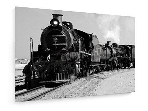 In bianco e nero di treno a vapore d'epoca - 30x20 cm - weewado - (Occidentale Del Metallo Di Arte)