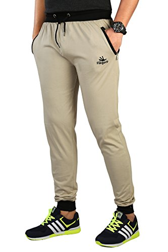 7. Men's Cotton Track Pants with Zipper Pockets