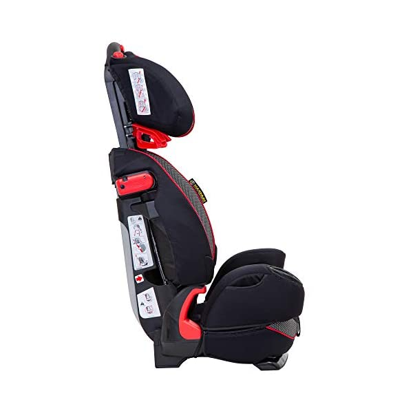 Graco Nautilus Elite Saturn Harnessed Booster Car Seat, Group 1/2/3, Red/Black Graco 2-in-1 convertible car seat for children 9 to 36 kg (approx 9 months to 12 years) From toddler to big kid, nautilus elite grows with your child; the no-rethread harness allows you to easily adjust the harness and headrest together Convenient one-hand height and width adjustable headrest 4