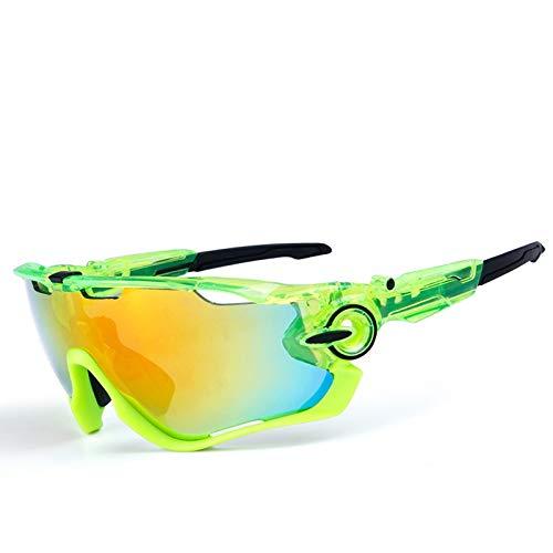 Sport Brille Durchsichtig Polarisierte Sonnenbrille Im Freien Radfahren Fahrrad Brille Bewegung Clear Green Black Damen Herren