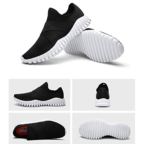 Oriskey Mixte Adulte Homme Femme Chaussures de Multisport Outdoor de Course de Running Baskets Gym Fitness Sport Sneaker Noir