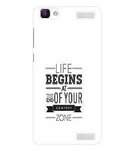 EPICCASE Life Begins Mobile Back Case Cover For Vivo V1 Max (Designer Case)