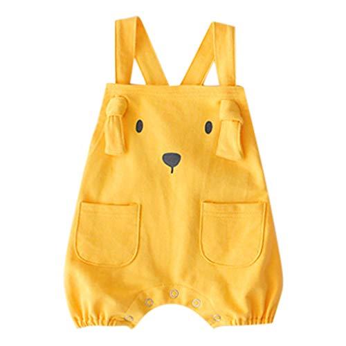 Riou Overall Baby Jungen Mädchen Sommer Kinder Karikatur Welpen Taschenspielanzug Kostüm Overall Ausstattungen Kleidung Outfits Babykleidung Spielanzug Jumpsuit Romper Body Strampler Set (Mädchen Welpe Kostüm)