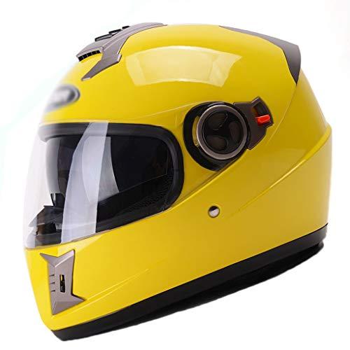 XGHW Elektrischer Motorradhelm Winter halbüberzogener Unisex-Anti-Fog-Helm für Vier Jahreszeiten (Farbe : 6, größe : 54-61cm)