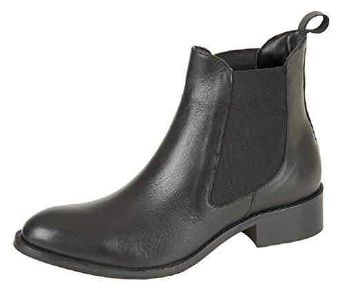 MOD Comfys–Mod Comfys Leder Twin Zwickel Chelsea Lapsus Stiefelette Black Nappa Leather