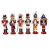 juman634 6PCS Cascanueces Marioneta Soldado Forma Decoración Árbol de Navidad Colgante Accesorios