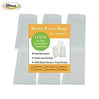 """OldPAPA 160 Micron Rosin Bags, Rosin Press Bags for Heat Pressing, Rosin Filter Bag, Reusable Nylon Screen Press Bag Rosin Tea Bags-2.5""""x 4"""" (50 Pack)"""