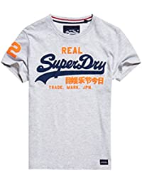 Superdry Vintage Logo Duo, T-Shirt Homme, Blanc