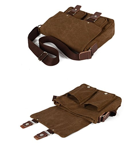 Muchuan , Borsa Messenger  Donna Uomo, Coffee (marrone) - FM-17 Coffee