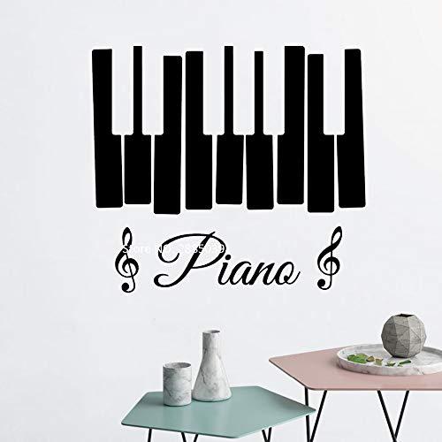 zhuziji Klavier Zeichen Wand Vinyl Aufkleber Musiknoten Wandaufkleber Violinschlüssel Für Schlafzimmer Wohnzimmer Wohnkultur Wandbilder 3D Poster 888-1 S 46 cm x 42 cm