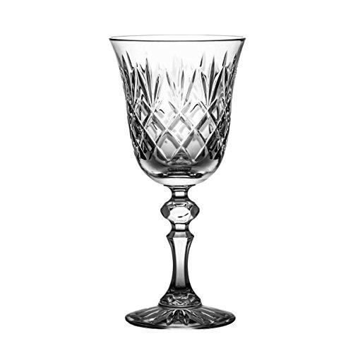 Crystaljulia 2848 Weinglas, Kristall, 220 ml, 8.5 x 8.5 x 17.5 cm, 6 Einheiten