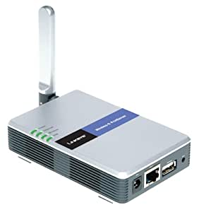 Linksys Wireless-G PrintServer WPS54G - Print server - Hi-Speed USB - Ethernet, Fast Ethernet, 802.11b, 802.11g - 10Base-T, 100Base-TX