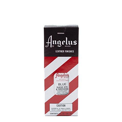 Angelus Suede Dye ist geeignet für Wildleder Nappaleder Nubukleder Leder färben Lederfarbe 88 ml (Blau) Metallic-stich