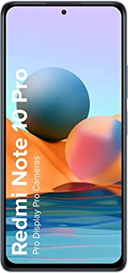 Redmi Note 10 Pro (Glacial Blue, 6GB RAM, 128GB Storage) -120hz Super Amoled Display|64MP with 5mp Super Tele-