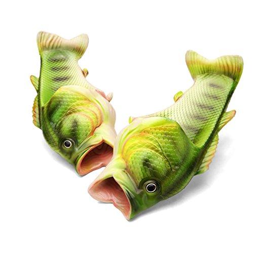 Fisch Für Frauen (Fisch Hausschuhe Kreative Gift Sandalen Sommer Fisch Schuhe Eltern-Kind Paar Strand Pantoffeln für Damen & Herren Geburtstagsgeschenk (43))