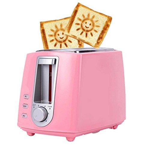 Toaster-Gastaster-Multifunktions-Frühstücks-Toaster, Freies Buttermesser, Nahrungsmittelklammern,Pink