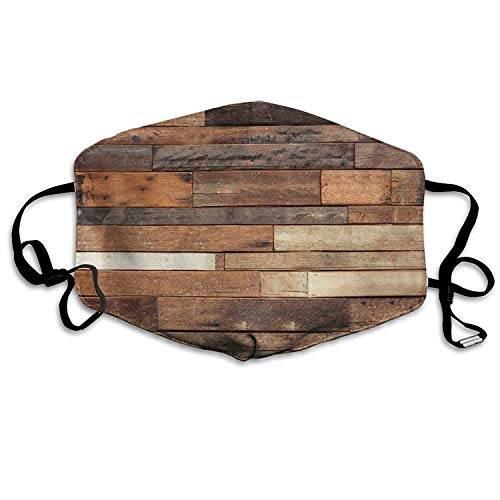 Fashion Outdoor Mouth Mask with Design, Surgical Face Flu Masks Rustic Floor Planks Print Premium Procedure Face Mask for Surgical, Allergy, Flu Germs - 1Pcs Anti-dust Face Mask for Women Men (100 Floors-halloween 3)