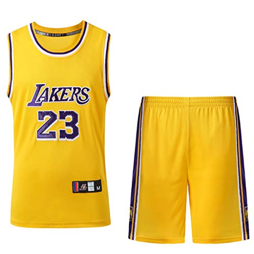 HANGESS Basketball Trikot für Männer NBA Lakers # 23 Lebron James Mesh Basketball Swingman Jersey Top & Shor