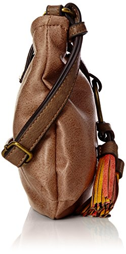Tamaris Damen Bianca Crossbody Bag Umhängetasche, 5x20x23 cm Braun (brown Comb.)