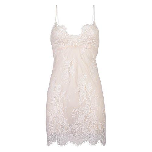Hunkemöller Damen Slipdress Modal Lace 117155 Rose L