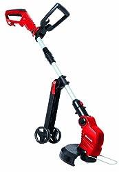 Einhell Elektro-Rasentrimmer GE-ET 5027 (500 W, 11.000 1/min Umdrehungen, 270 mm Schnittkreis, Flowerguard, verstellbarer Motorkopf, Führungsräder)