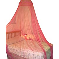 Red Diadia Mosquito NET for Bed Queen to California King Size Bed Canopy Curtains Carry Bag Extra Large Mosquito Netting Easy Installation for Twin