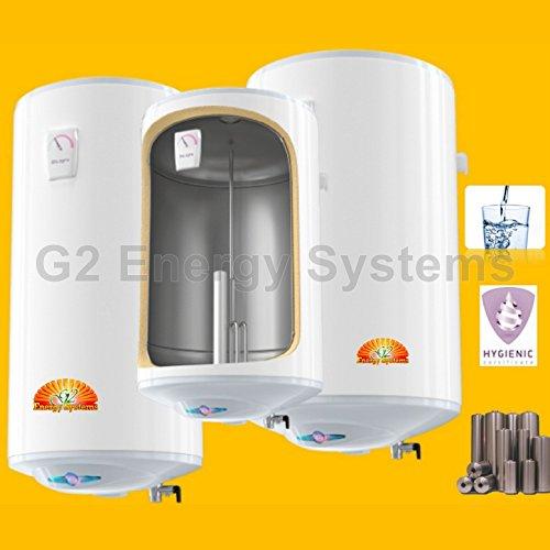 100 L Liter 2 kW 230 Volt wandhängender wandhängender Edelstahl Warmwasserspeicher - druckfest - Boiler