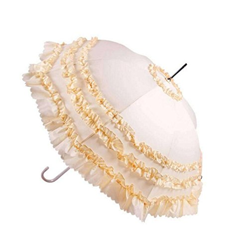 Civeter New Sonnenschirm für Damen, lang, Elegantes Pagoda D 01 - Spitzenband 1