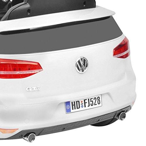 RC Auto kaufen Kinderauto Bild 6: SENLUOWX Kinderauto Elektroauto VW Golf GTI 7 Weiß 12 V Kinderfahrzeug Kinderauto mit Fernbedienung*