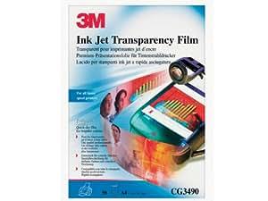 3M Ink Jet Transparency Film CG3460 Film transparent transparents ANSI A (Letter) (216 x 279 mm) 50 pc.